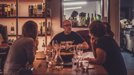 Iain serves fabulous food matched with several different wines at one of his mid-week supper club ga