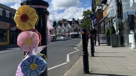Knitting for Bramhall, personalising the village centre