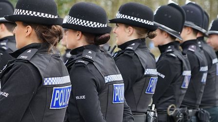 Police officers without their hi-vis jacket. Photograph: Norfolk Constabulary.