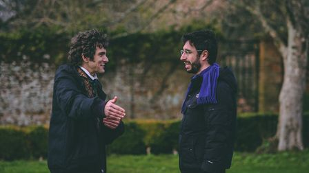 Ghosts producer Matt Baynton and director Tom Kingsley in the gardens at West Horsley Place Image: R