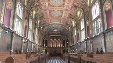 The interior of the chapel at Royal Holloway College. Image copyright Sheila Binns