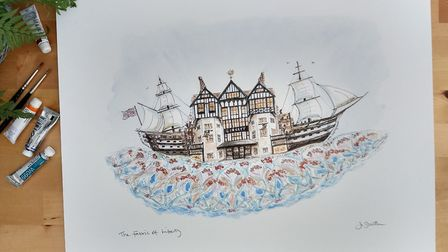 Overton artist Jo South was chosen to create a piece of art for Liberty London