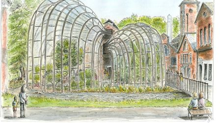 Bombay Sapphire Distillery is another of Jo's beautiful artworks