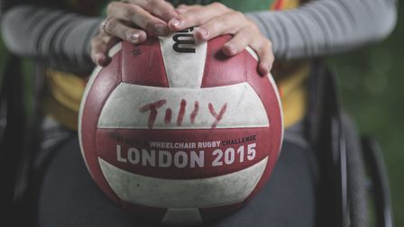 Tilly Robinson discovered a new purpose through playing wheelchair rugby. Photo: Steve Haywood