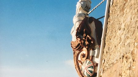 The figurehead was positioned to look over the Exe at Topsham. Photo: David and Ruth Martin