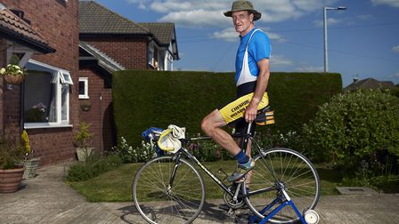 Rob Bailey, cycling nowhere from Bramhall Photo: Alex Livesey