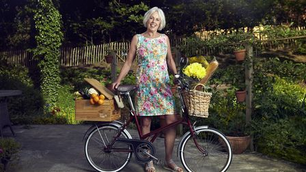 Frances Trainer, retro bike owner from Wilmslow Photo: Alex Livesey