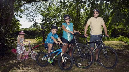 Sarah Bellew and her family from Wilmslow Photo: Alex Livesey