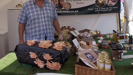 Richard Sawden from New Forest Wild and Exotic Mushrooms credit Richard Sawden