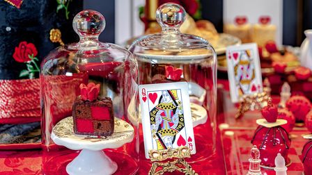 The Queen of Hearts afternoon tea boasts a careful eye for detail