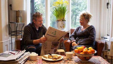Sherree and her husband Mark at home. Image: Stephen Pover Photography