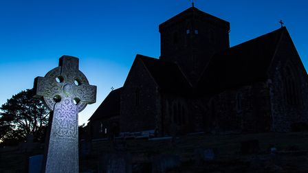 Church of St Martha-on-the-Hill in Guildford at night. Image: Getty Images/iStockphoto