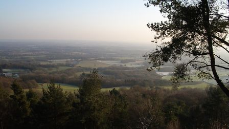 View from Leith Hill, looking towards the south. Could it be that opposing West Saxon and Danish arm