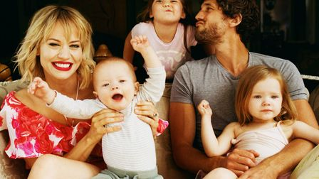 Kimberly Wyatt of the Pussycat Dolls and her family. Picture: You by Us