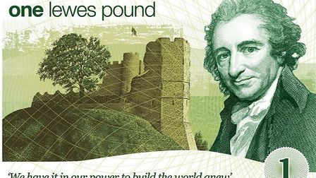 The town pays tribute to Paine on its own currency, the Lewes Pound