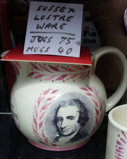 Souvenirs commemorating Paine are available to buy in the town. Photo: Chris Horlock