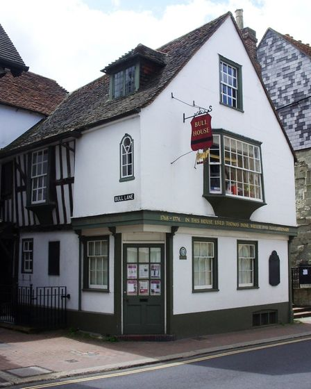 Bull House on the High Street, where Paine lived while in Lewes. Photo: Chris Horlock