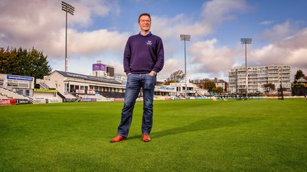 Rob Andrew, CEO of Sussex County Cricket Club, at the Hove cricket ground.Photo: Jim Holden