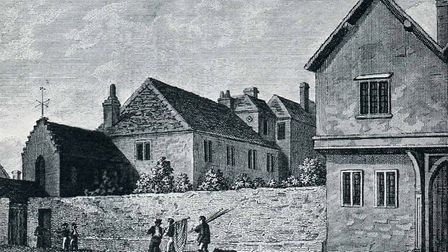 A engraving of King Edward School VI from 1827