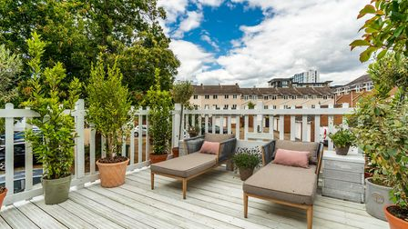 The sun terrace is a favoured hang-out for evening drinks