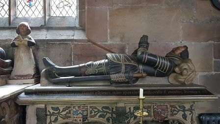 The tomb of Sir Francis Fitton, circa 1608, in the Church of St James, Gawsworth Photo: James Balm