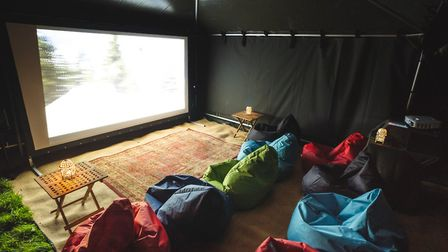 Black-out marquees give you the option to binge watch movies all day and night. Photo: Canvas Co