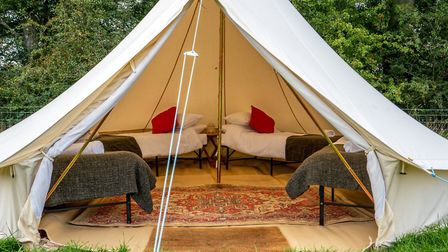 Luxury bell tents are a great idea for children's sleepovers. Photo: Canvas Co