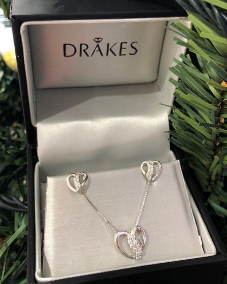 'You really cannot go wrong with a matching necklace and earring set.' Picture: Drakes Jewellers