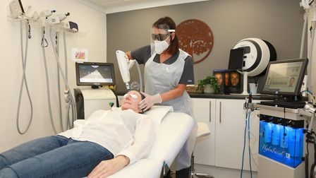 Lucy in action using the ClearLift laser at Care of the Skin in Wilmslow