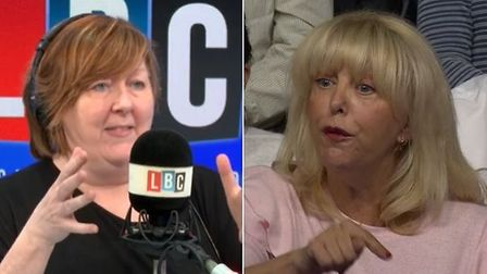 Shelagh Fogarty takes down a bigoted Question Time audience member. Photograph: LBC/BBC.