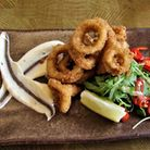 Salt and pepper calamari at the Farmers Arms