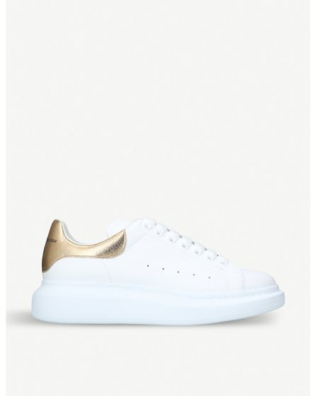 Alexander McQueen show leather trainers, £390, selfridges.com