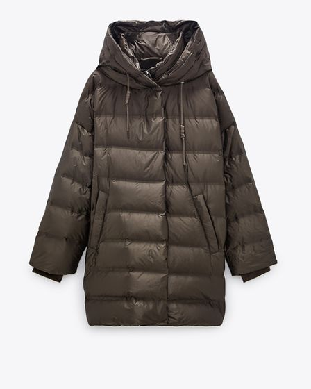 Oversized down jacket, £89.99, zara.com
