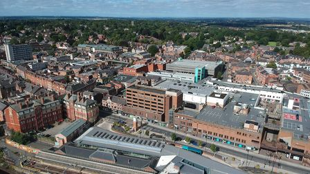 Altrincham from the air