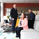Peter Griffith, Sonia Wallace and Paul Griffith celebrate 25 years of success Photo: Kirsty Thompson