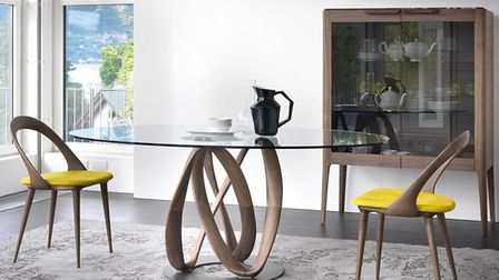 Paul has chosen the Infinity table from Porada as his favorite design in their current collection
