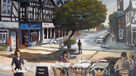 Before the tree was felled, by Northwich artist Jim Stanley