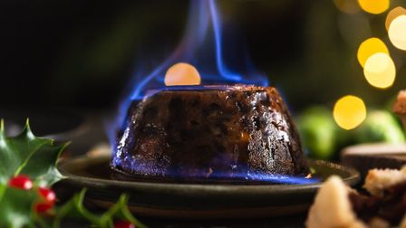 Riverford's richly flavoured fruity Christmas pudding is made with coconut oil. Photo: Riverford