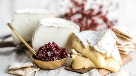 Pair your mulled Pinot Noir with a selection of handmade-cheeses from the Sharpham Dairy. Photo: Mat