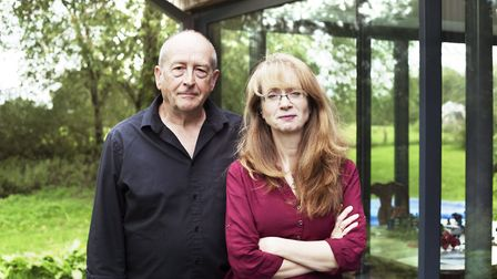 Ian Bartholomew, who plays Geoff Metcalfe in Coronation Street, with his wife Loveday Ingram at thei