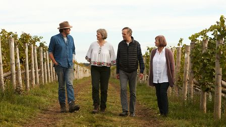 Zam, Mark, Rose and Lucy jointly run The Grange vineyard