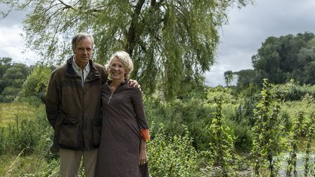 Mark and Sophie Baring at the site of their wetlands project