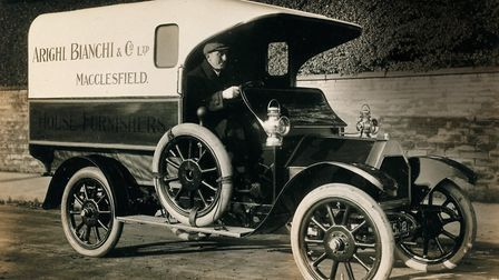 1912 and Arighi Bianchi is delivering on four wheels to Macclesfield and beyond