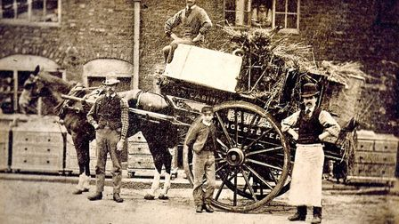 Arighi Bianchi's horse and cart delivery vehicle from 1869