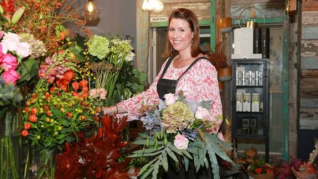 Debs Gaskell, shop worker at Living Colour Floral Artists. Photo: Kirsty Thompson