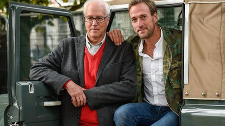 Bruce Fogle with his son, explorer and TV presented Ben Fogle, at Cheltenham Literary Festival