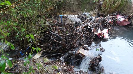 An example of debris in one of the streams back in 2017. Photo: Westcountry Rivers Trust