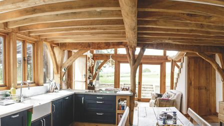 Talented couple Polly and Tom have created a dream starter home together. Photo: Steve Haywood