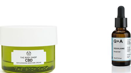 CBD from the Body Shop; Squalene Oil from Holland & Barrett