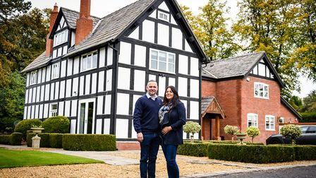 Lucie and Vinny and their beautiful heritage home. Photo: Fiona Bailey Photography